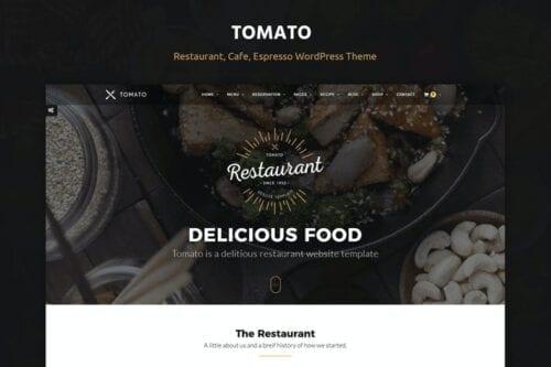قالب وردپرس رستوران و کافی شاپ Tomato Restaurant, Cafe, Espresso WordPress Theme