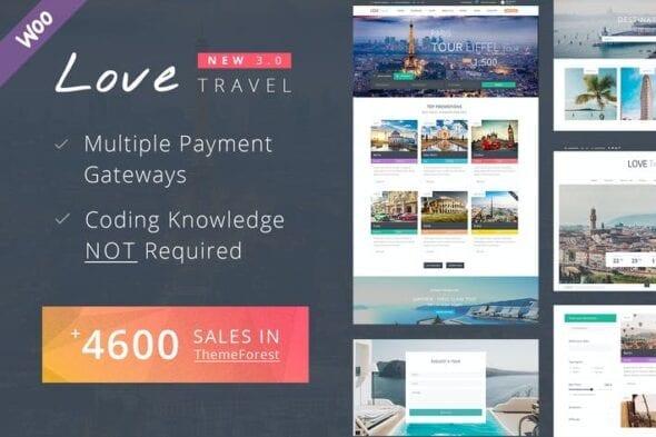 قالب وردپرس آژانس مسافرتی و گردشگری Travel WordPress Theme