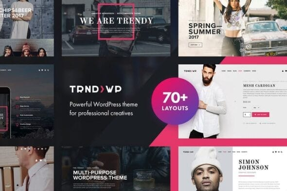 قالب وردپرس چندمنظوره Trendy - Creative Multi-Purpose WordPress Theme
