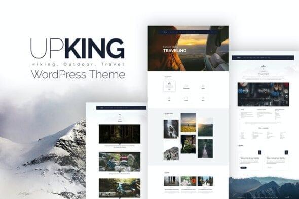 قالب وردپرس کلوب و باشگاه کوهنوردی Upking - Hiking Club WordPress Theme