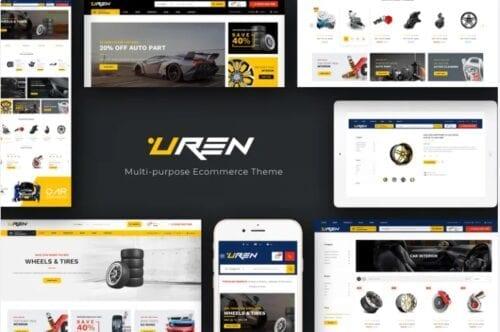 قالب فروشگاه لوازم خودرو Uren - Car Accessories Opencart Theme