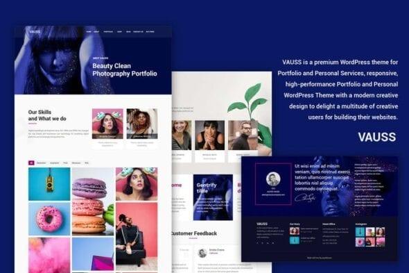 قالب وردپرس شخصی VAUSS - Portfolio and Personal Services