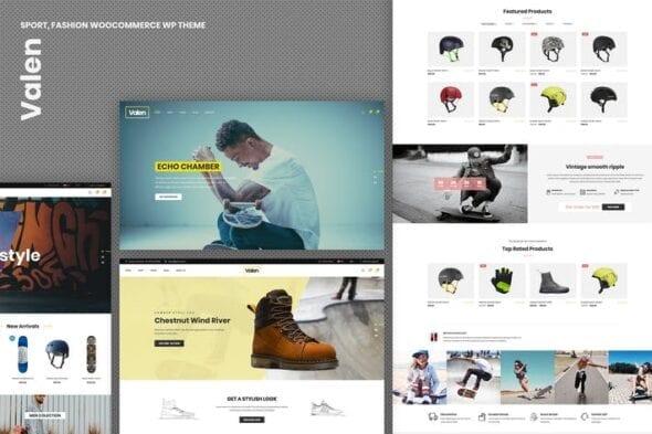 قالب وردپرس فروشگاه مد و فشن Valen - Sport, Fashion WooCommerce WordPress Theme