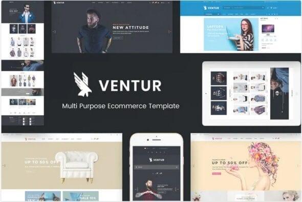 قالب فروشگاه مد و فشن Ventur - Fashion OpenCart Theme