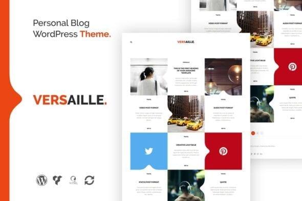 قالب وردپرس بلاگ شخصی Versaille - Personal Blog WordPress Theme