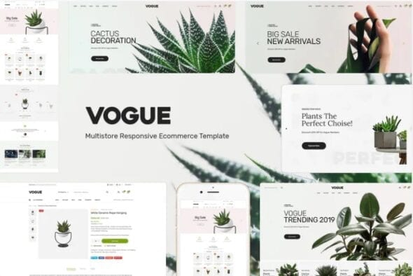 قالب فروشگاه گل و گیاه Vogue - Plant Store Opencart Theme