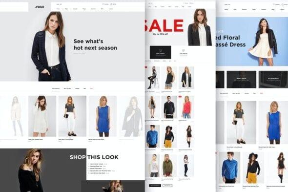 قالب وردپرس فروشگاهی Voux Fashion Shopping Theme