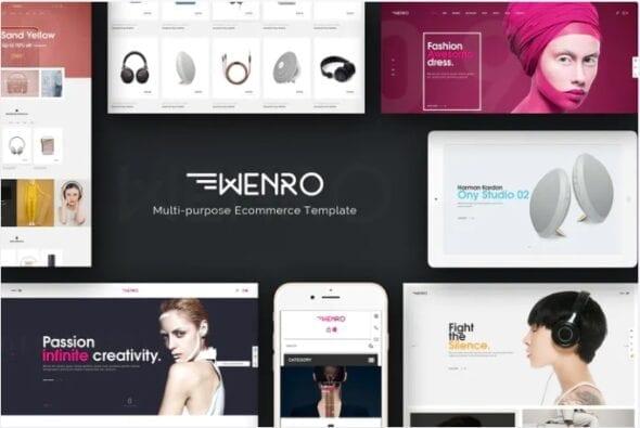 قالب فروشگاه لوازم دیجیتال و الکترونیک Wenro - Multipurpose Responsive Magento