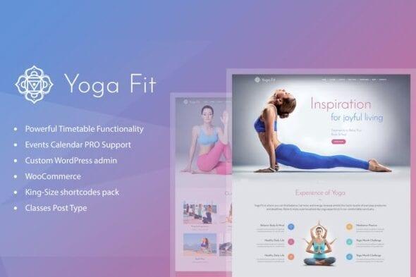 قالب وردپرس باشگاه ورزشی و تناسب اندام Yoga Fit - Sports, Fitness & Gym WordPress Theme