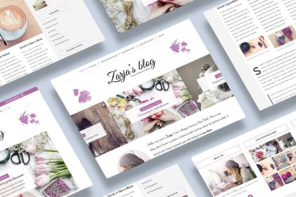 قالب وردپرس بلاگ Zarja - WordPress Blog Theme