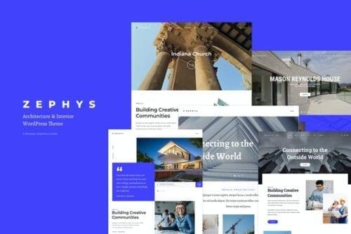 قالب وردپرس طراحی و معماری Zephys - Architecture & Interior WordPress Theme