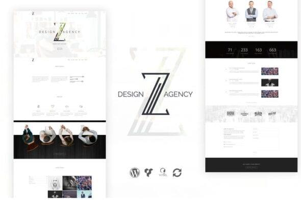 قالب وردپرس شرکتی Zuut - Clean Agency WordPress Theme