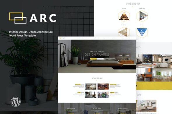 پوسته وردپرس طراحی داخلی و معماری ARC - Interior Design, Decor, Architecture WordPre