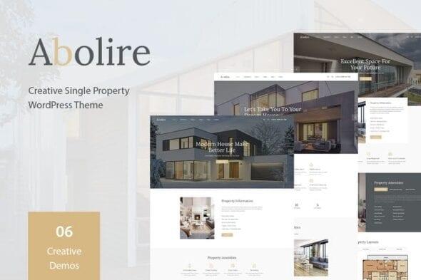 قالب وردپرس آژانس املاک Abolire - Single Property WordPress Theme