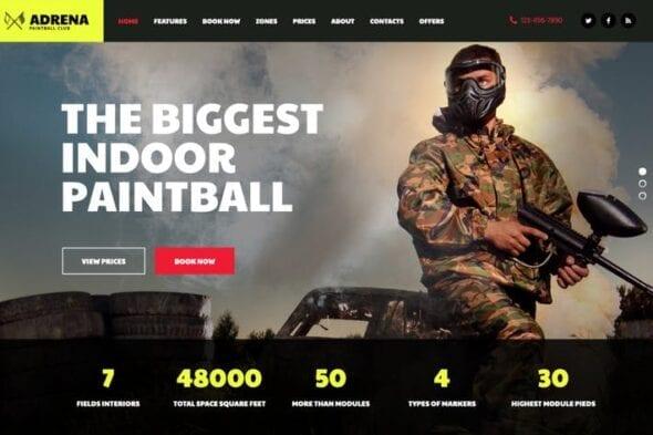 پوسته وردپرس ورزشی Adrena | Airsoft Club & Paintball WordPress Theme