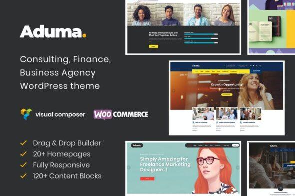 قالب وردپرس شرکتی تجاری Aduma - Consulting, Finance, Business WP Theme