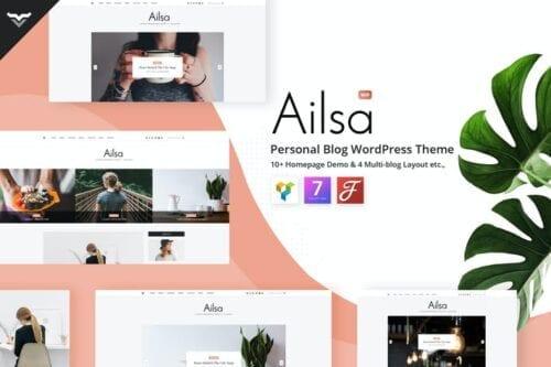 پوسته وردپرس بلاگ شخصی Ailsa - Personal Blog WordPress Theme