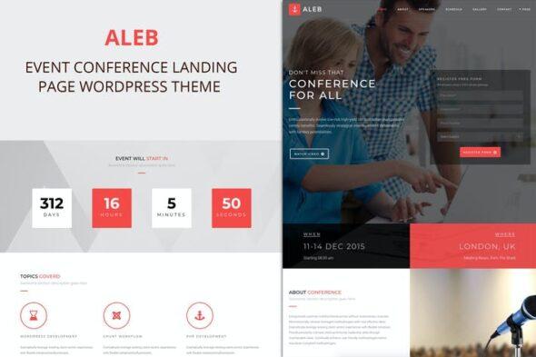 پوسته وردپرس رویداد و همایش Aleb - Event Conference Onepage WordPress Theme