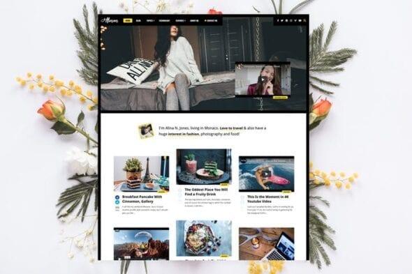 پوسته وردپرس بلاگ شخصی Alinan - Personal Blog / Vlog WordPress Theme