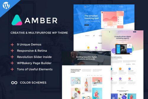 پوسته وردپرس شرکتی Amber Six - Creative WordPress Theme