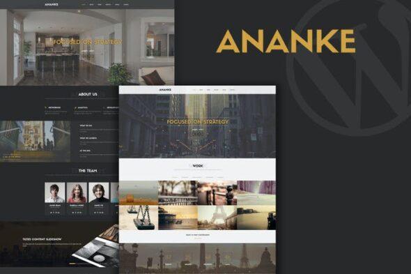 قالب وردپرس تک صفحه ای Ananke - One Page Parallax WordPress Theme