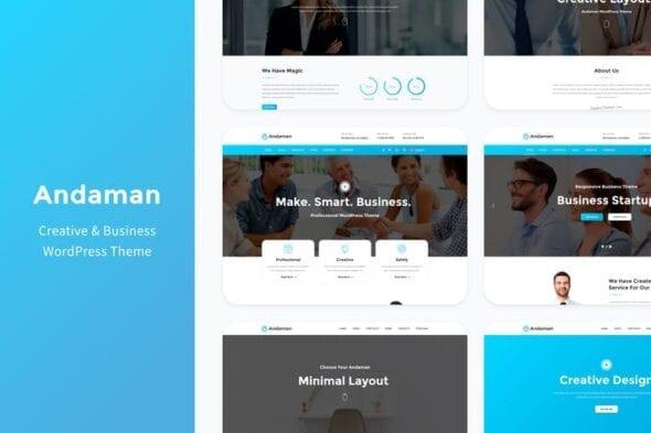 پوسته وردپرس تجاری Andaman - Creative & Business WordPress Theme