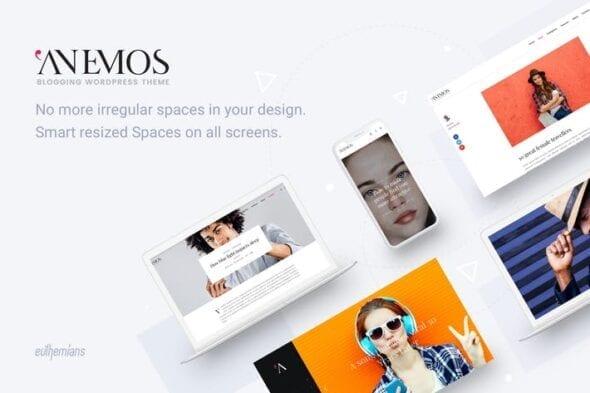 پوسته وردپرس بلاگ Anemos - A Multiuse Blogging WordPress theme