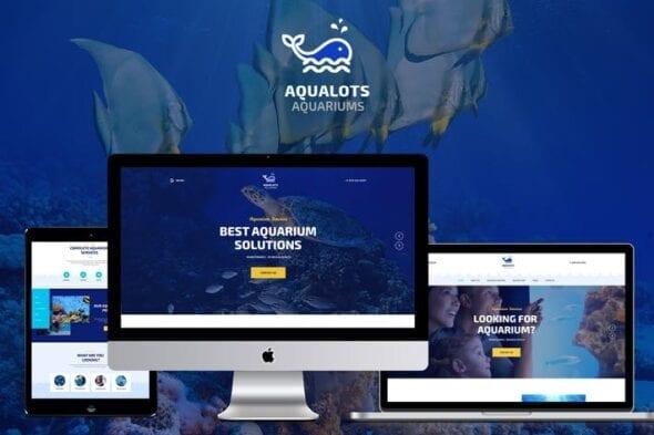 قالب وردپرس آکواریوم Aqualots