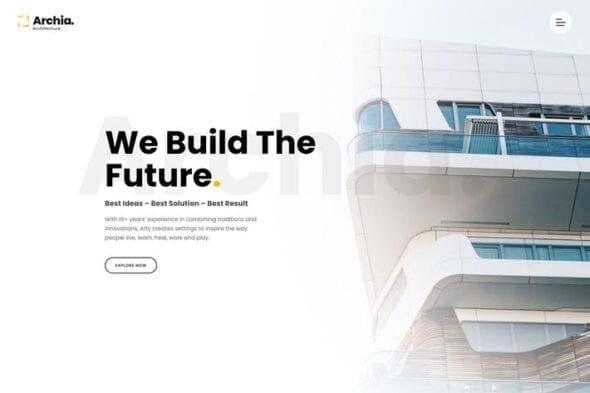 پوسته وردپرس معماری و طراحی داخلی Archia - Architecture & Interior WordPress Theme