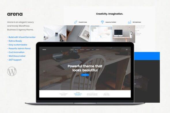 پوسته وردپرس تجاری Arena - Business & Agency WordPress Theme
