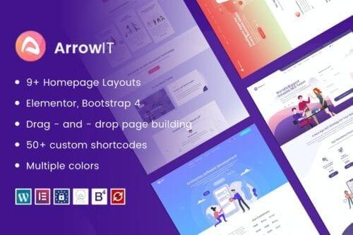 قالب وردپرس تکنولوژی و فناوری ArrowIT - Technology, Digital WordPress Theme