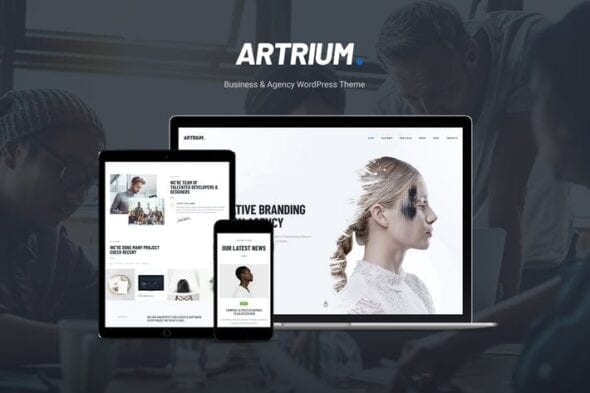 قالب وردپرس شرکتی Artrium - Creative Agency & Web Studio WP Theme