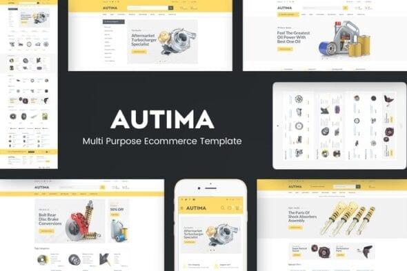 پوسته وردپرس فروشگاهی Autima - Car Accessories Theme for WordPress