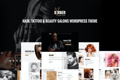 پوسته وردپرس سالن زیبایی Barber - Hair, Tattoo & Beauty Salons WP Theme
