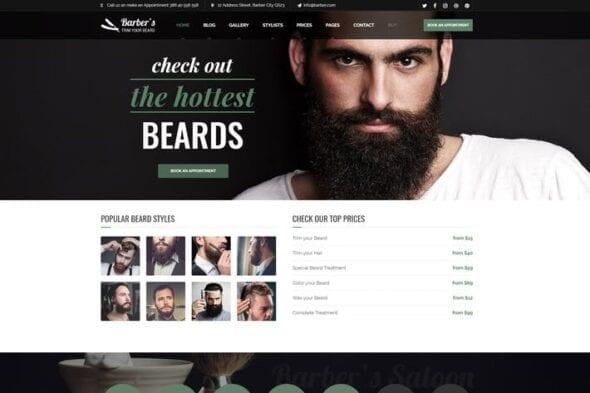 پوسته وردپرس سالن های آرایشگری Barber - WordPress Theme for Barbers & Hair Salons