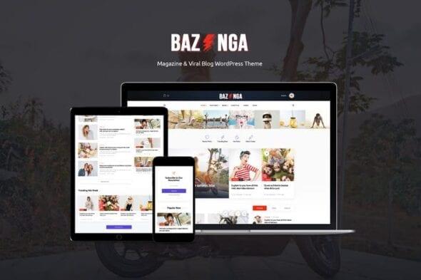 پوسته وردپرس بلاگ Bazinga