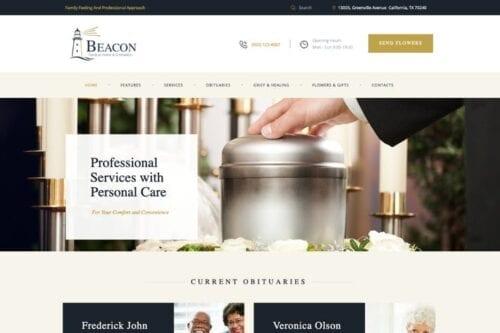قالب وردپرس قبرستان Beacon   Funeral Home WordPress Theme
