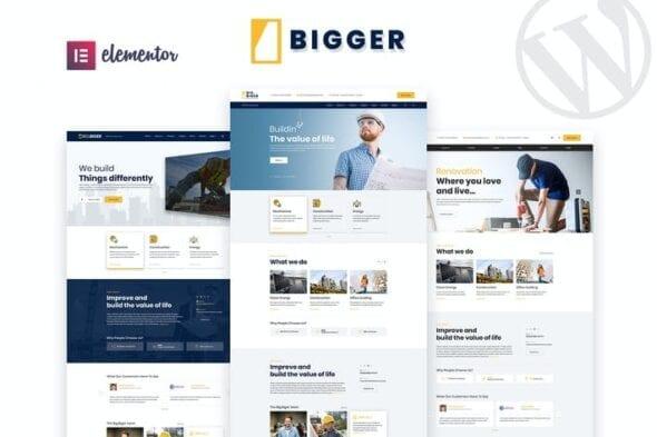 پوسته وردپرس ساختمان Bigger - Construction WordPress Theme