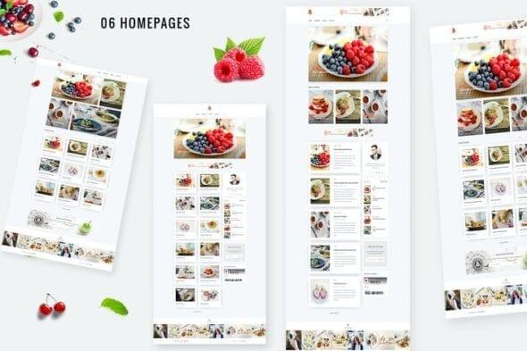 قالب وردپرس بلاگ Bizi - A WordPress Theme for Food Bloggers