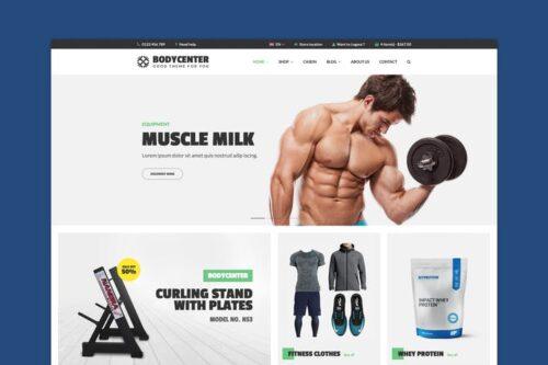 قالب وردپرس تناسب اندام BodyCenter - Fitness WooCommerce WordPress Theme