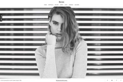 پوسته وردپرس نمونه کار Borano - Photography / Portfolio WordPress Theme