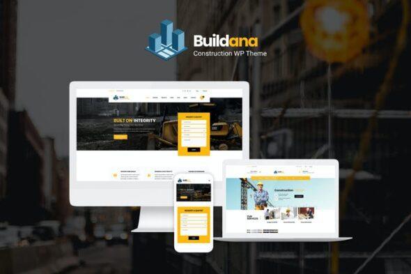 پوسته وردپرس ساختمان و معماری Buildana   Construction & Building WordPress Theme