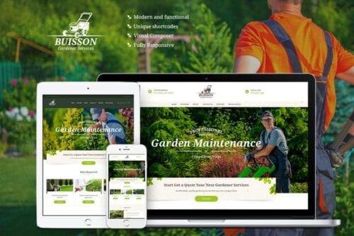 قالب وردپرس باغبانی Buisson - Gardening WordPress Theme