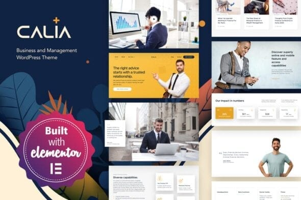 پوسته وردپرس تجاری Calia - Business and Management WordPress Theme