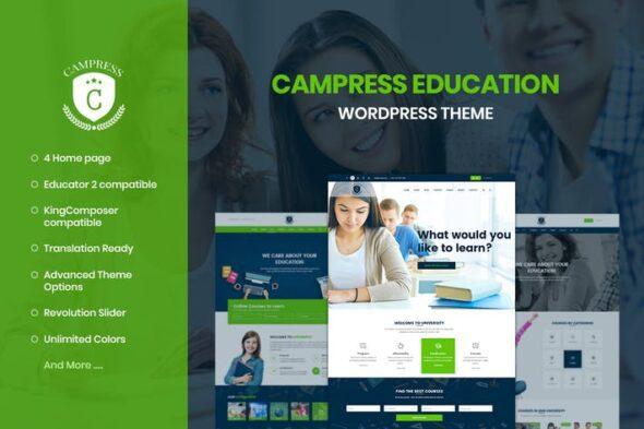 پوسته وردپرس آموزش آنلاین Campress - Education, Courses WordPress Theme