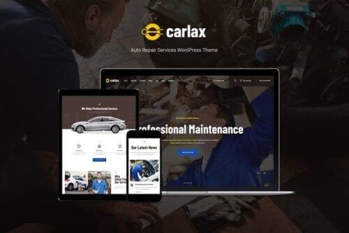 قالب وردپرس مکانیکی و تعمیرگاه خودرو Carlax