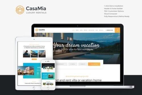 قالب وردپرس شرکتی CasaMia