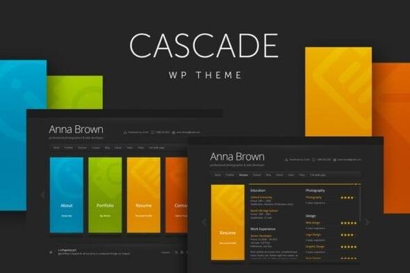 قالب وردپرس شخصی و رزومه Cascade - Personal vCard WordPress Theme