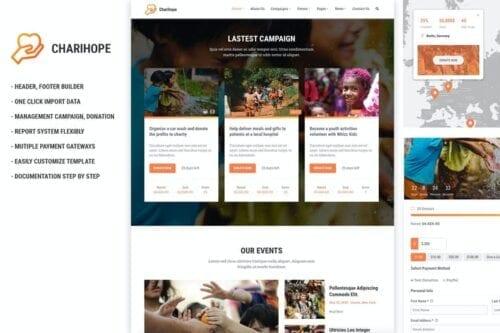 قالب وردپرس خیریه Charihope - Charity and Donation WordPress Theme