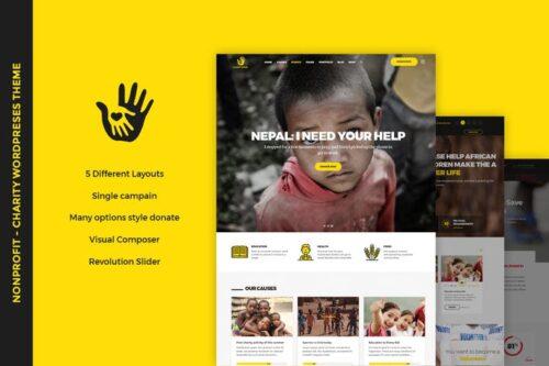 پوسته وردپرس موسسات خیریه CharityHeart - Nonprofit WordPress Theme